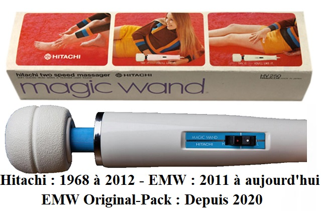 Hitachi magic wand histoire 1968 2012 Emw Original-Pack 2020