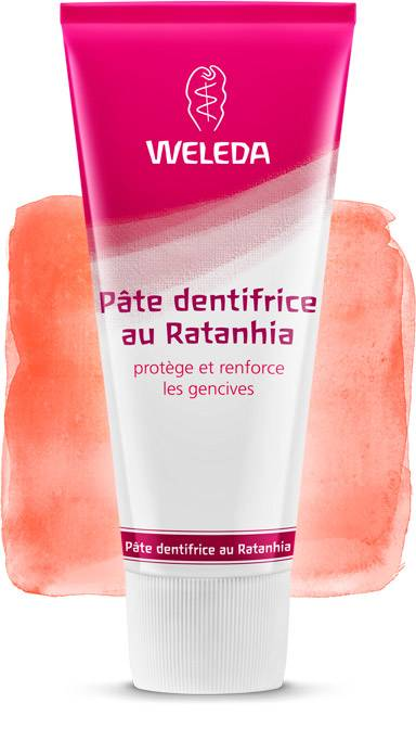 Dentifrice Naturel Weleda au Ratanhia (Made in Germany)