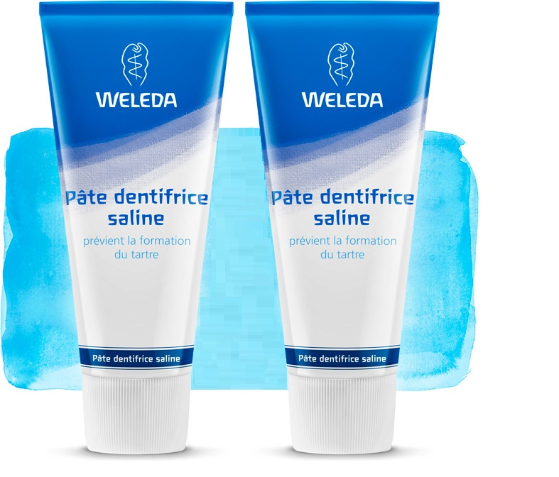 2 Dentifrices Naturel Weleda Saline (Made in Germany)