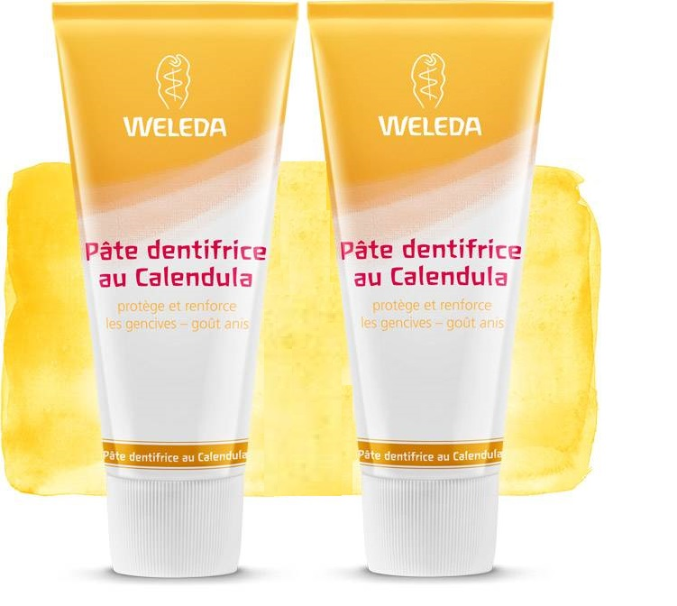 2 Dentifrices Naturel Weleda au Calendula (Made in Germany)